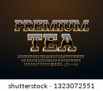 vector elite logo premium tea... | Shutterstock .eps vector #1323072551