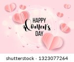 happy mother's day layout...   Shutterstock .eps vector #1323077264