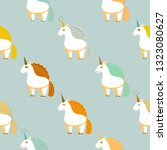pattern with cute unicorns.... | Shutterstock .eps vector #1323080627
