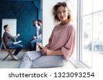 modern young african business... | Shutterstock . vector #1323093254