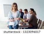 beautiful young business lady... | Shutterstock . vector #1323096017