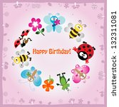 vector illustration  birthday... | Shutterstock .eps vector #132311081