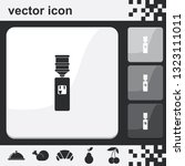 water cooler flat set of... | Shutterstock .eps vector #1323111011