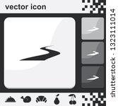 road flat set of buttons vector ... | Shutterstock .eps vector #1323111014