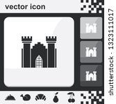castle flat set of buttons... | Shutterstock .eps vector #1323111017
