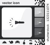 flashlight flat set of buttons... | Shutterstock .eps vector #1323111074