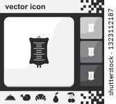 simple drop counter flat set of ... | Shutterstock .eps vector #1323112187