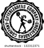 silhouette of cheerleader on... | Shutterstock .eps vector #132312371