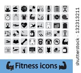 professiona fitnessl icons for... | Shutterstock . vector #132313211
