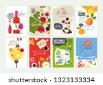 set of restaurant menu ... | Shutterstock .eps vector #1323133334