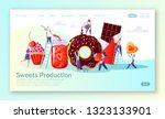 concept of landing page with...   Shutterstock .eps vector #1323133901