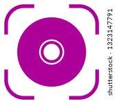 cd dvd icon in focus. white... | Shutterstock .eps vector #1323147791
