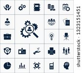 vector set of business icons.... | Shutterstock .eps vector #1323151451