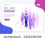 isometric hiring and...   Shutterstock .eps vector #1323156104