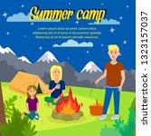 summer camp vector square... | Shutterstock .eps vector #1323157037