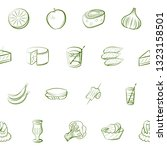 food images. background for... | Shutterstock .eps vector #1323158501