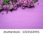 decorative border of lilac...   Shutterstock . vector #1323163451