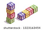 isometric kids blocks with...   Shutterstock .eps vector #1323163454