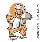 menu chef italian | Shutterstock .eps vector #1323166397