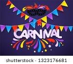masquerade vector concept.... | Shutterstock .eps vector #1323176681