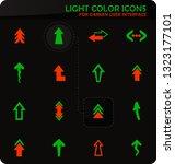 arrows easy color vector icons...