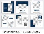 editable square memphis...   Shutterstock .eps vector #1323189257
