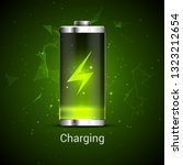 battery charge full power... | Shutterstock .eps vector #1323212654