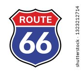 66 Route Sign Icon. Vector Road ...