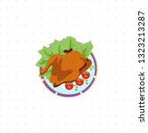 fried chicken isolated...   Shutterstock .eps vector #1323213287