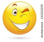 smiley vector illustration  ... | Shutterstock .eps vector #132323255