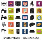 furniture and interior black... | Shutterstock .eps vector #1323236651