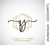 qz initial handwriting logo...   Shutterstock .eps vector #1323243971