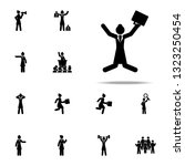 businesswoman  jump icon.... | Shutterstock .eps vector #1323250454
