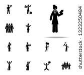 businesswoman  book icon.... | Shutterstock .eps vector #1323250484
