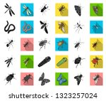 different kinds of insects... | Shutterstock .eps vector #1323257024