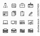 business and office icons with... | Shutterstock .eps vector #132327404