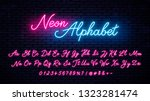 neon handwritten english... | Shutterstock .eps vector #1323281474