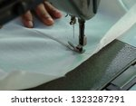 sewing machine close up  ... | Shutterstock . vector #1323287291