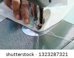 sewing machine close up  ... | Shutterstock . vector #1323287321