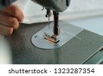 sewing machine close up  ... | Shutterstock . vector #1323287354