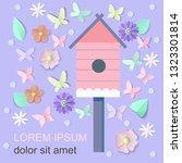 spring floral background for...   Shutterstock .eps vector #1323301814