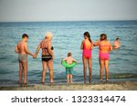 people family  are resting on... | Shutterstock . vector #1323314474