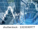 forex trading  financial market ... | Shutterstock . vector #1323330977