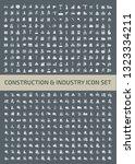 construction icon set vector... | Shutterstock .eps vector #1323334211