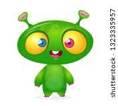 green funny happy cartoon alien....   Shutterstock .eps vector #1323335957