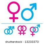 male and  female symbols.... | Shutterstock . vector #13233373