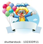 illustration of a clown with...