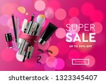 super sale cosmetics banner for ... | Shutterstock .eps vector #1323345407