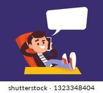 relaxed positively thinking... | Shutterstock .eps vector #1323348404