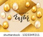 black lettering happy easter... | Shutterstock . vector #1323349211